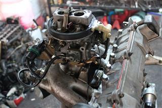 Old Car Engine And Carburetor