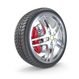 Sports Car Wheel Isolated