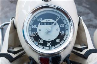 Retro Style Motorcycle Speedometer