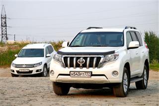 Toyota Land Cruiser Prado And Volkswagen Tiguan
