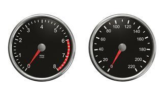Tachometer And Speedometer