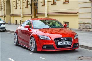 Modern Red Audi Car