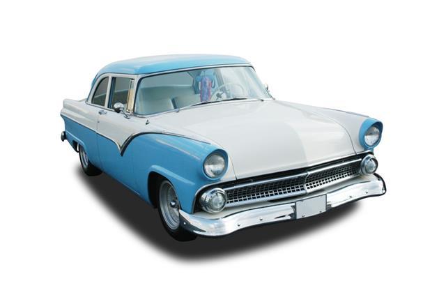 Classic Car Blue 1955 Ford Fairlane