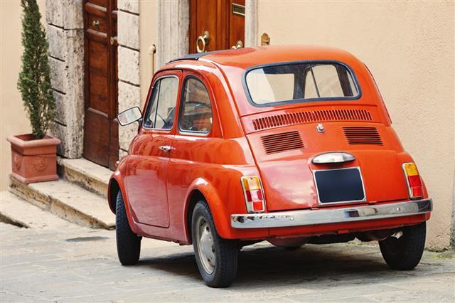 Vintage Fiat 500 Tuscany Italy