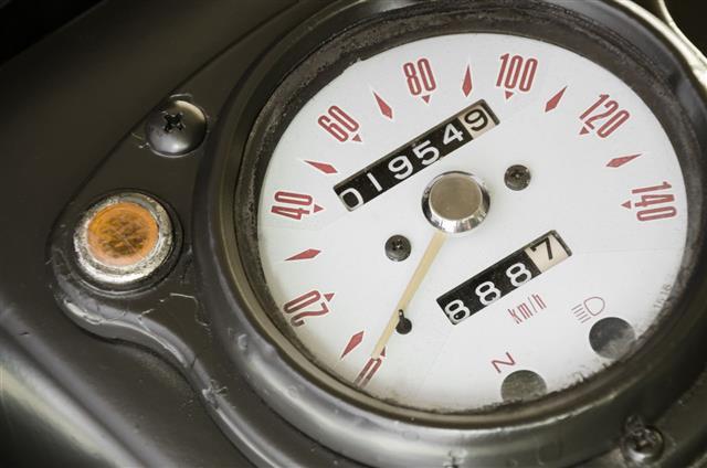 Speedometer Of Classic Military Motorbike