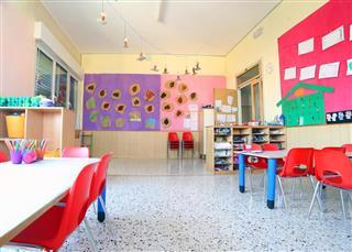 Inside of the kindergarten classroom