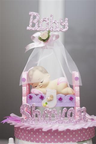 Baby shower cake girl pink