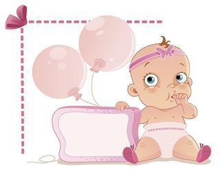 Baby girl design card