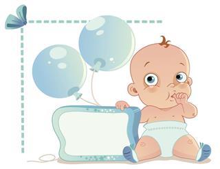Baby boy design card