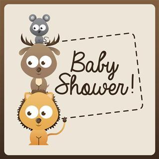 Animal cute design invitation card