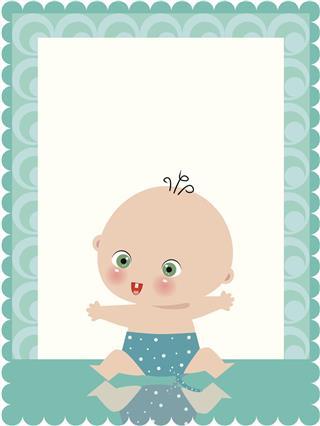 Boy birth card
