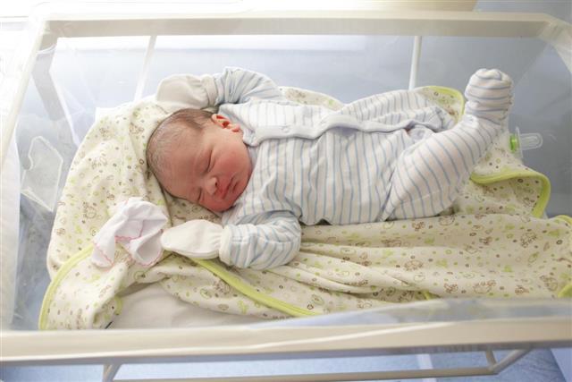 Cute little newborn sleeping