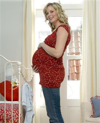 Pregnant smiling woman