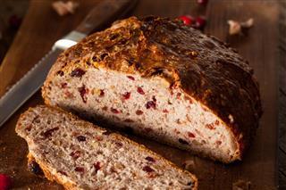 Homemade Walnut Cranberry Bread