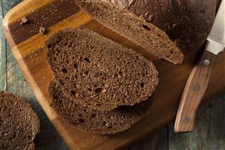Homemade Organic Pumpernickel Rye Bread