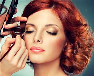 Eye Makeup Of Woman