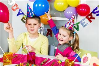 Big funny birthday party