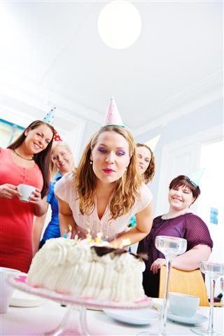 Celebrating birthday girl