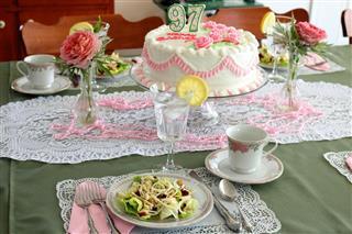 Birthday Tea Party Table Setting