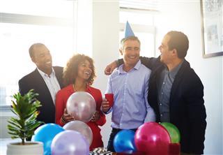 Celebrating office birthdays