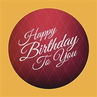 Happy Birthday Card Retro Style