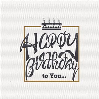 Happy Birthday Card Sticker