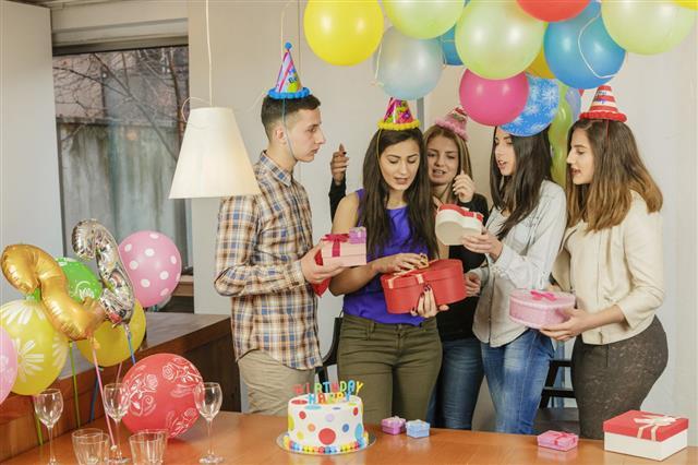 Celebration of birthday parties