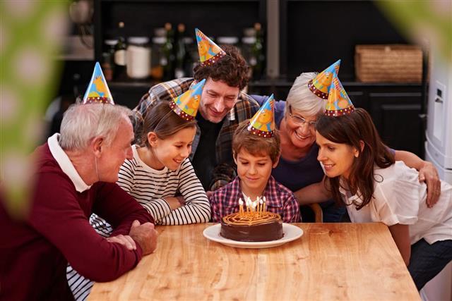 Birthday Celebration in a Cabin