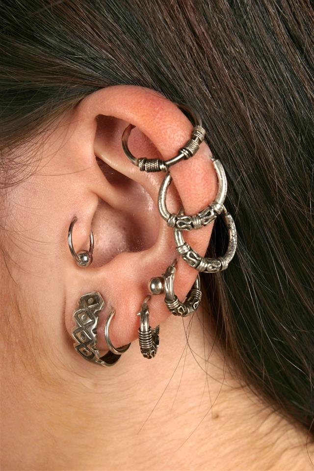 Ear Rings Close Up