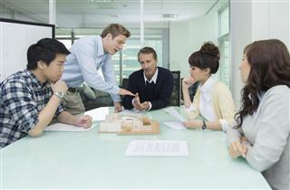 Office People In Meeting