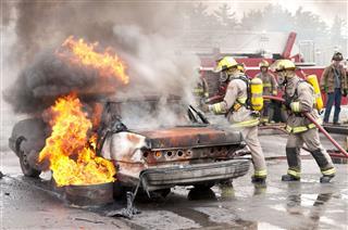 Firefighter Training Excercise