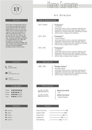 Resume Template Minimalist Style Cv