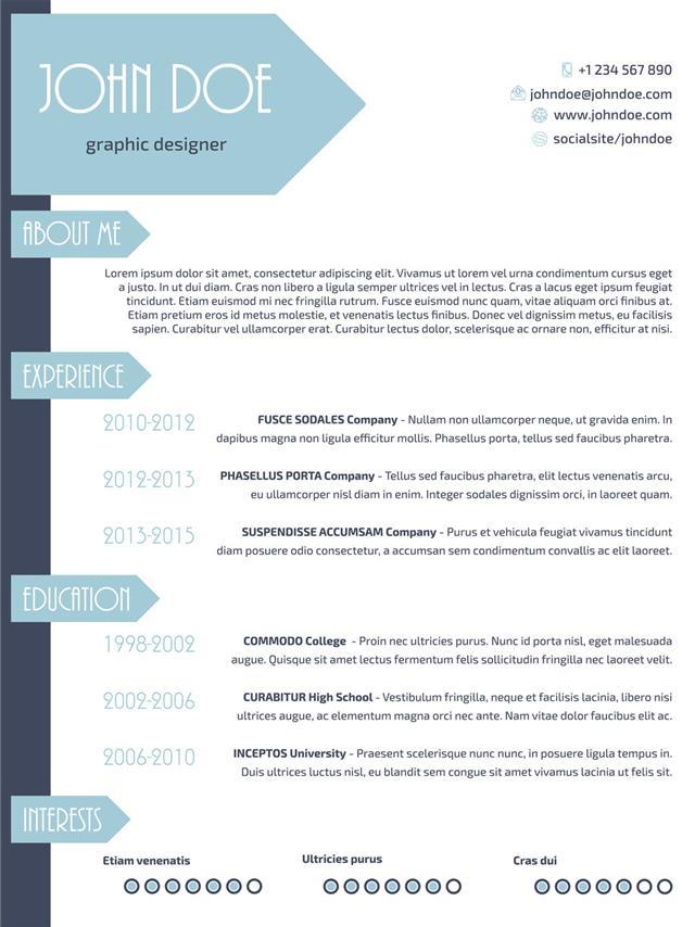 Simplistic Modern Resume