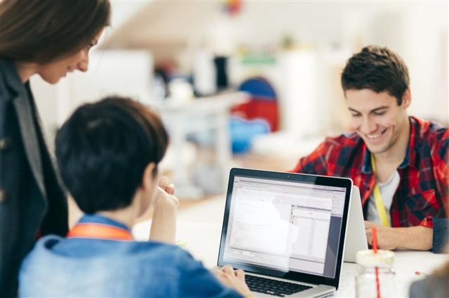 Start Up Development Team Collaborating