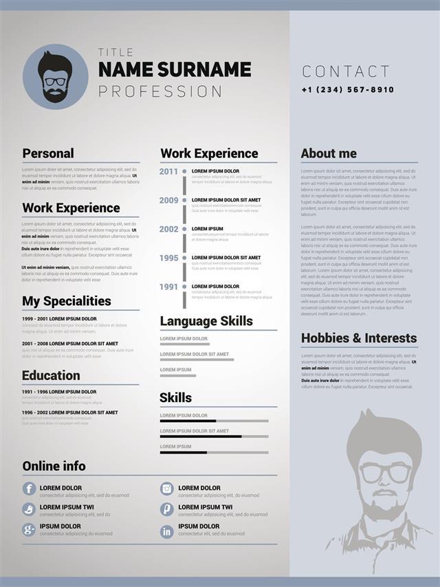 Resume Template Minimalist Cv