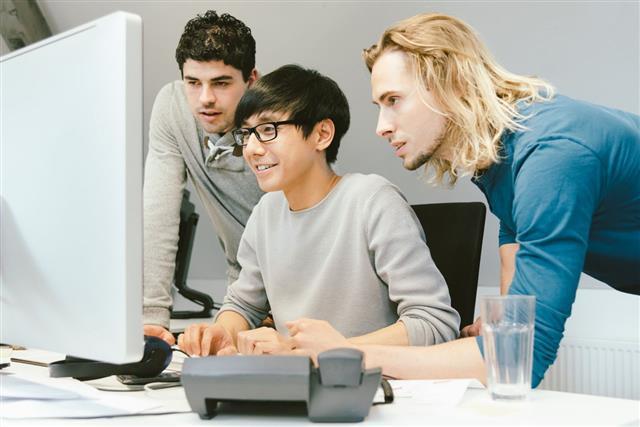 Web Developer Working Together