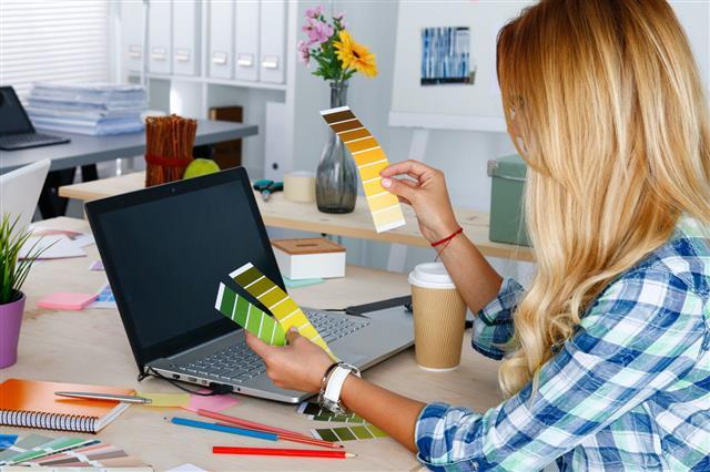 Designer In Office Working