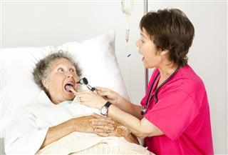 Hospital Nurse Say Ah