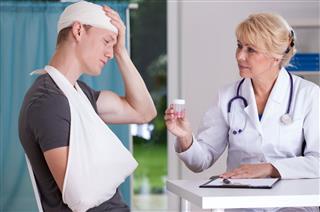 Giving Pills For Headache