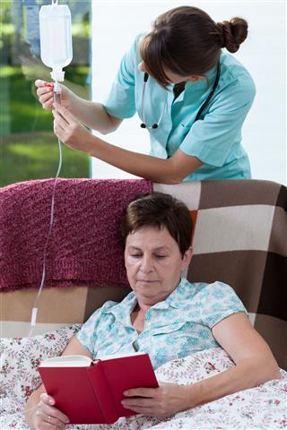 Nurse And Drip Bag
