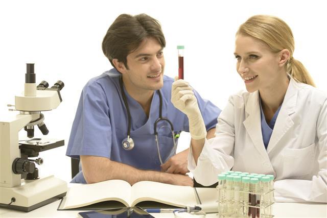 Medical Researcher Examining Sample