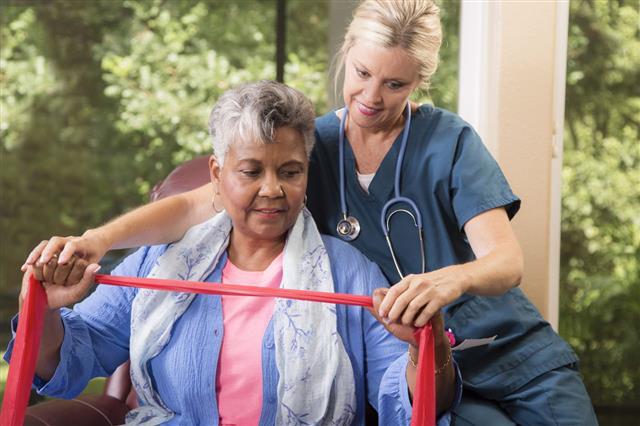 Senior Adult Patient With Home Nurse