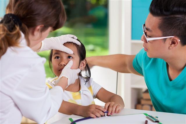 Asian Girl During Eye Examination