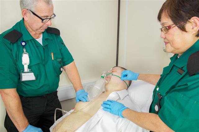 Paramedic Nurses Check A Patient