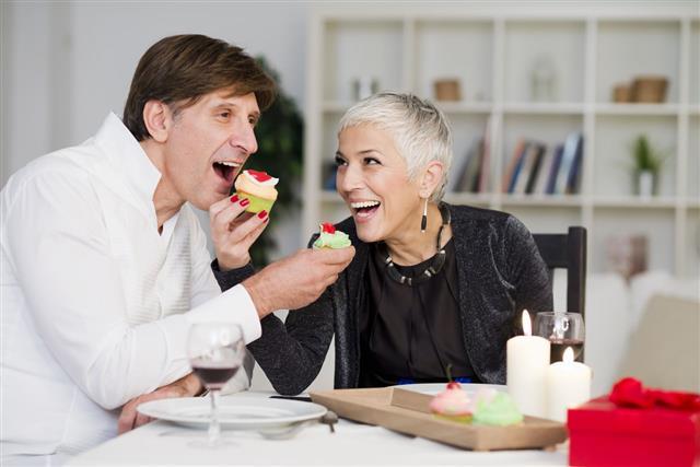 Senior Couple Have Dinner