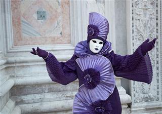 Costume In Venice Carnival