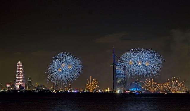 New Years Fireworks Dubai
