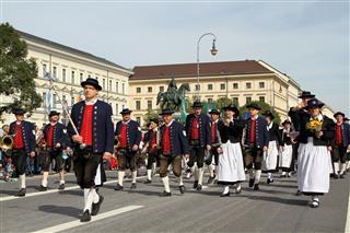 Music Group Walking Oktoberfest Parade