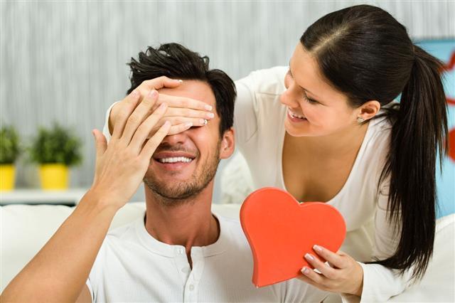 Woman Surprising Boyfriend
