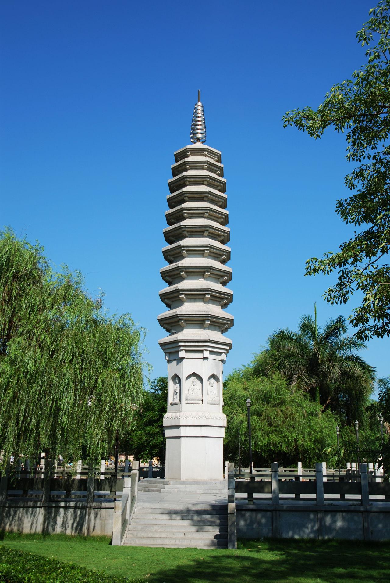 chinese ancient traditional customs tower buddha china